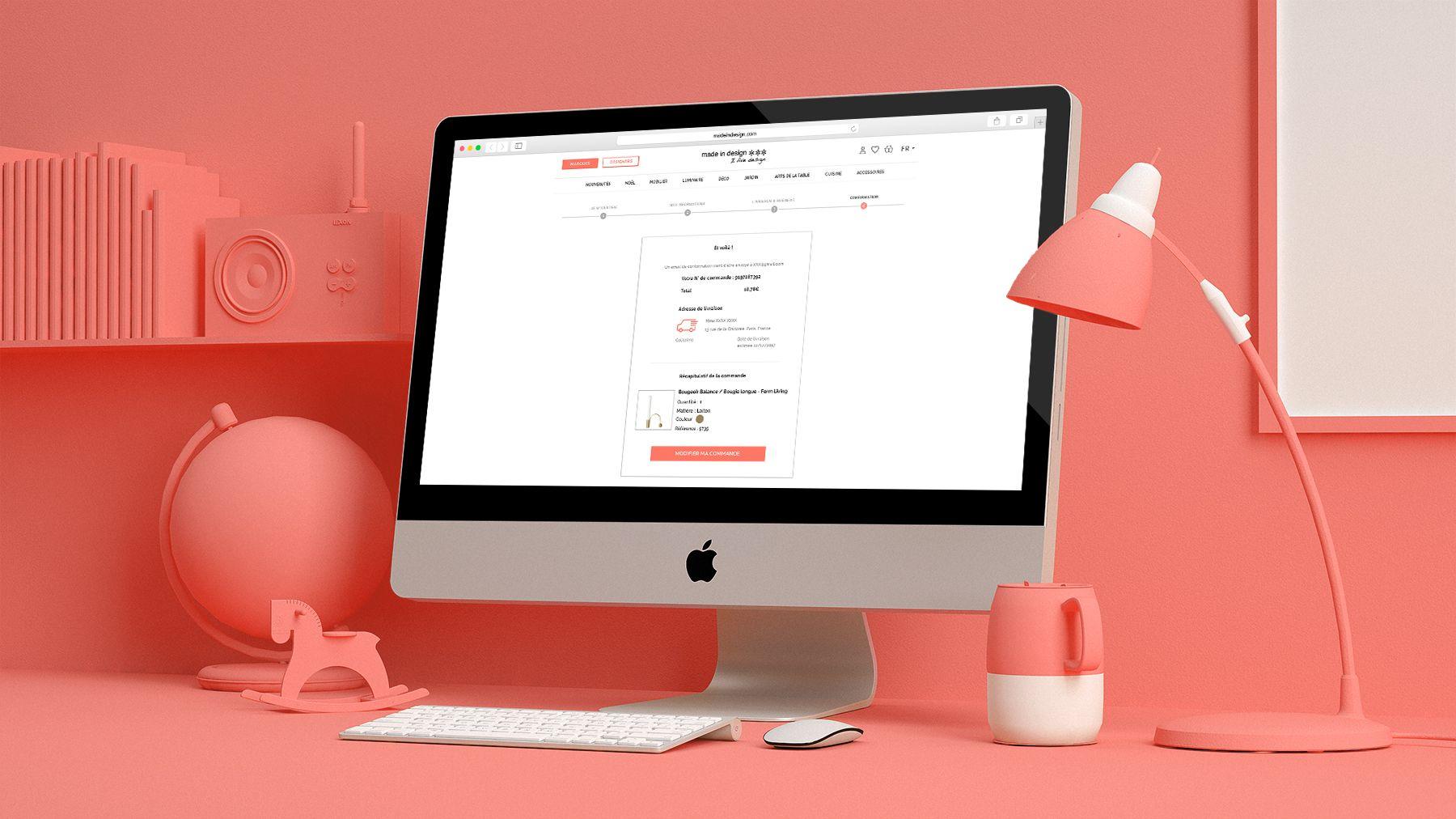 """Ecran desktop """"Made In Design"""""""