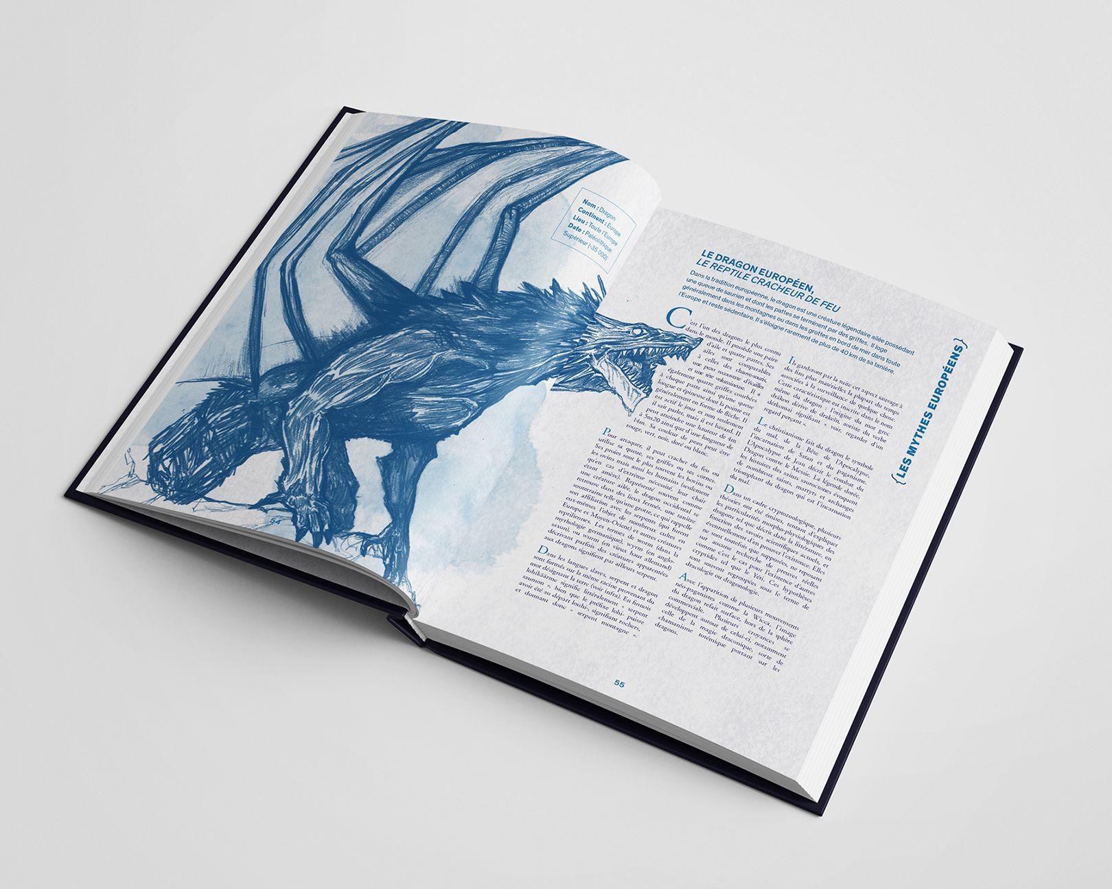 Dragon européen pour le recueil Mytho(zoo)logie