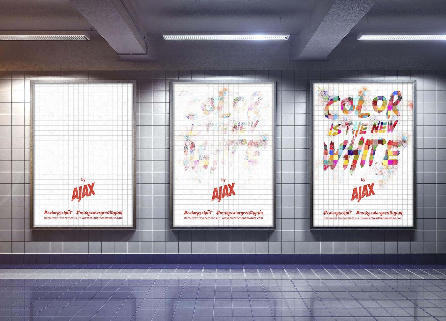 Affiches simples métro