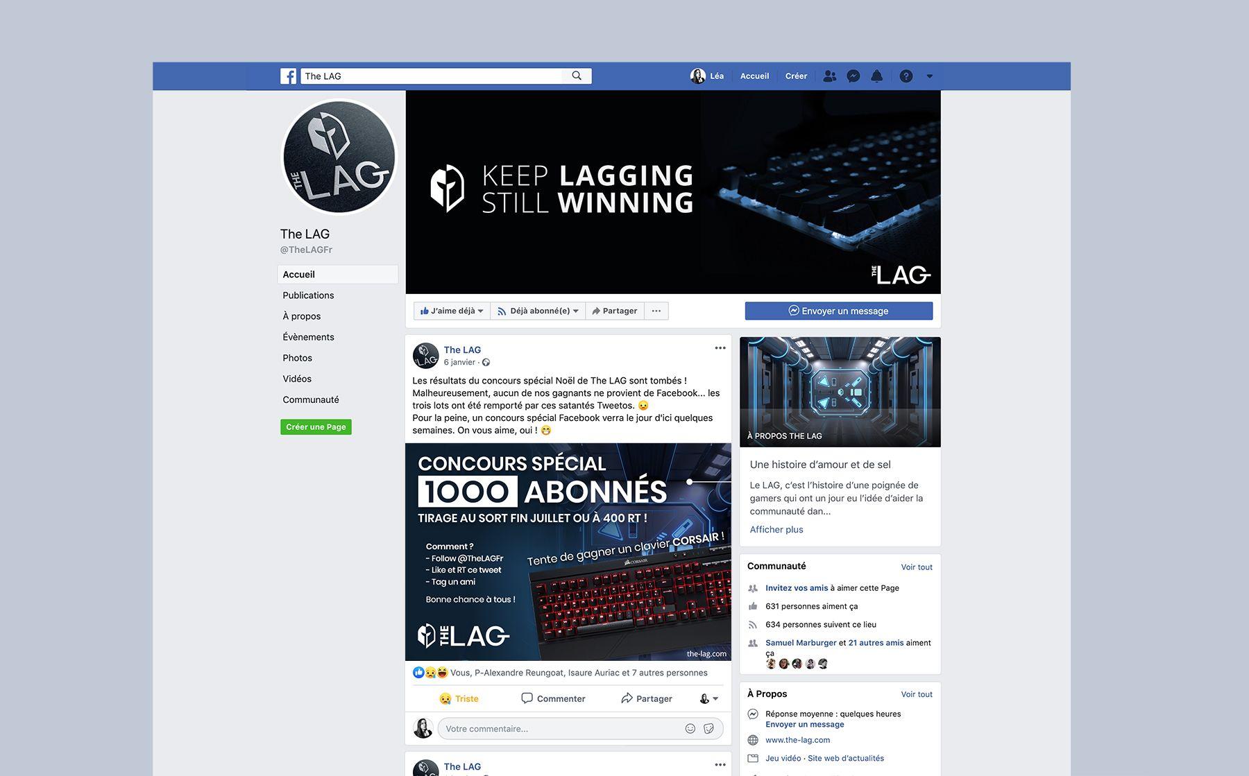 Page Facebook de The LAG