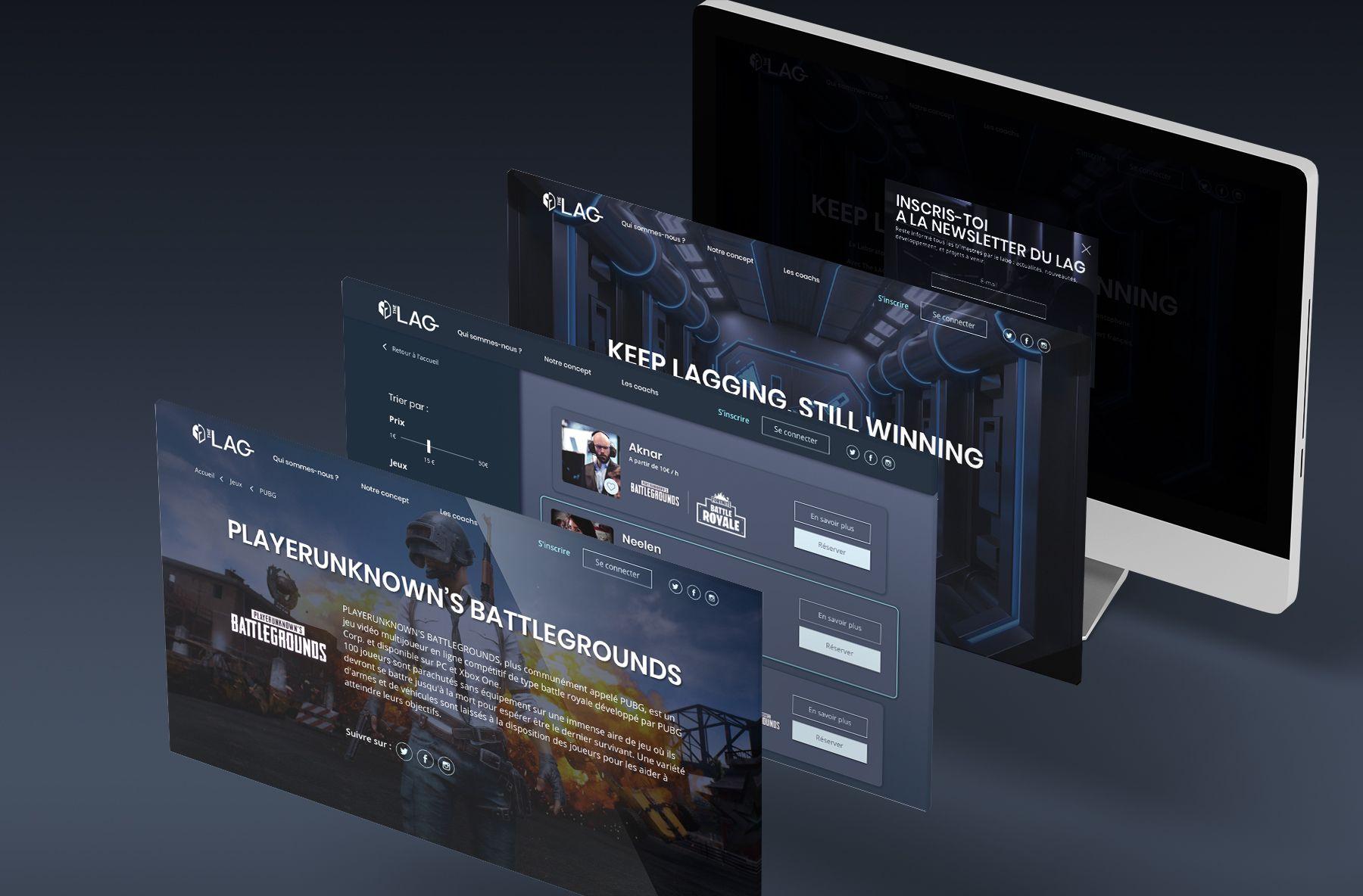 Exemple de pages du site
