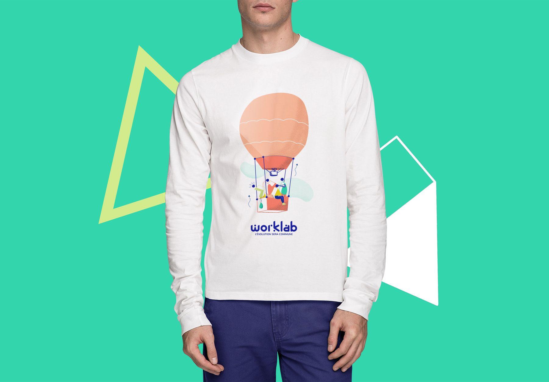 Un prototype de support éditorial pour Worklab : sweat-shirt