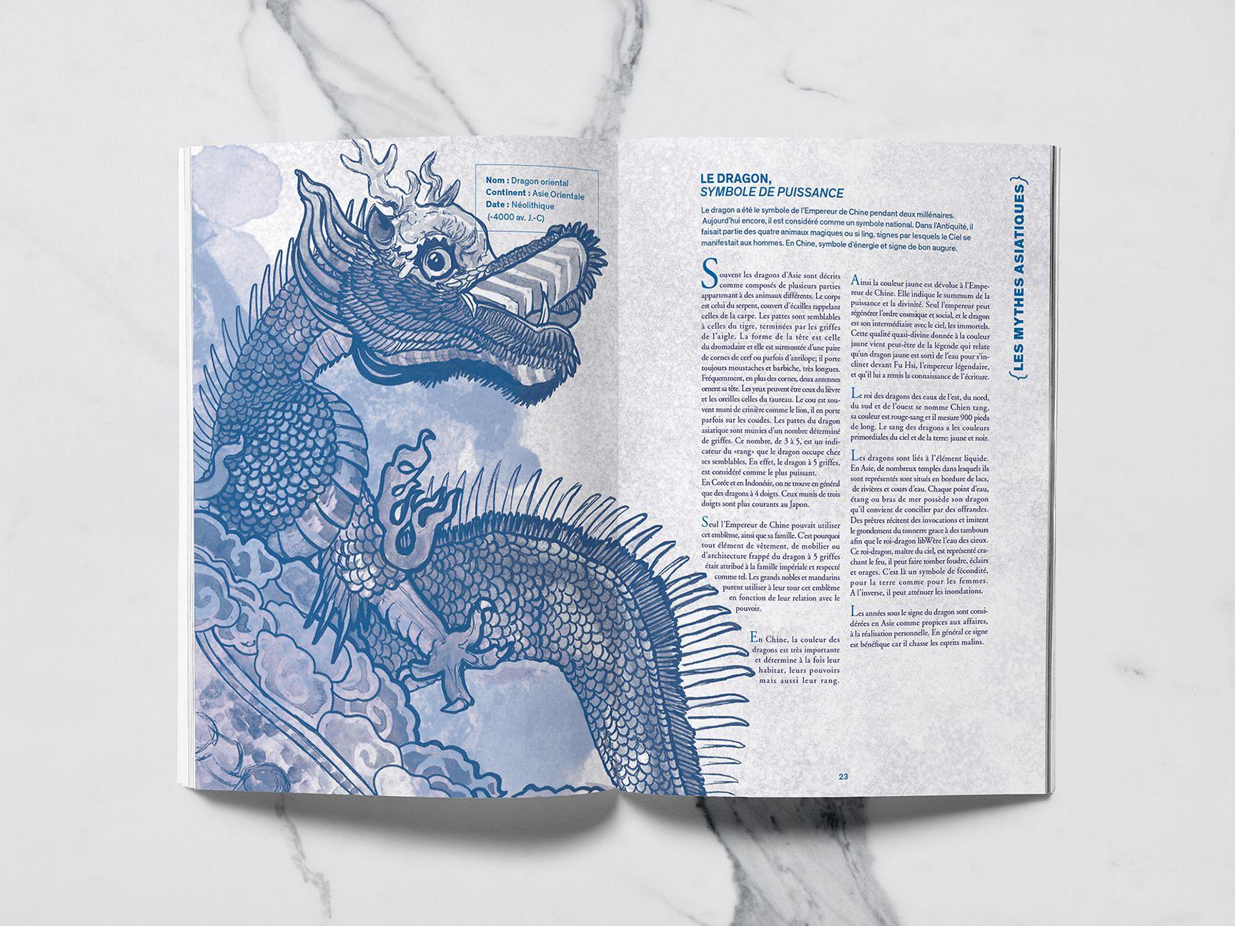Dragon asiatique du recueil Mytho(zoo)logie