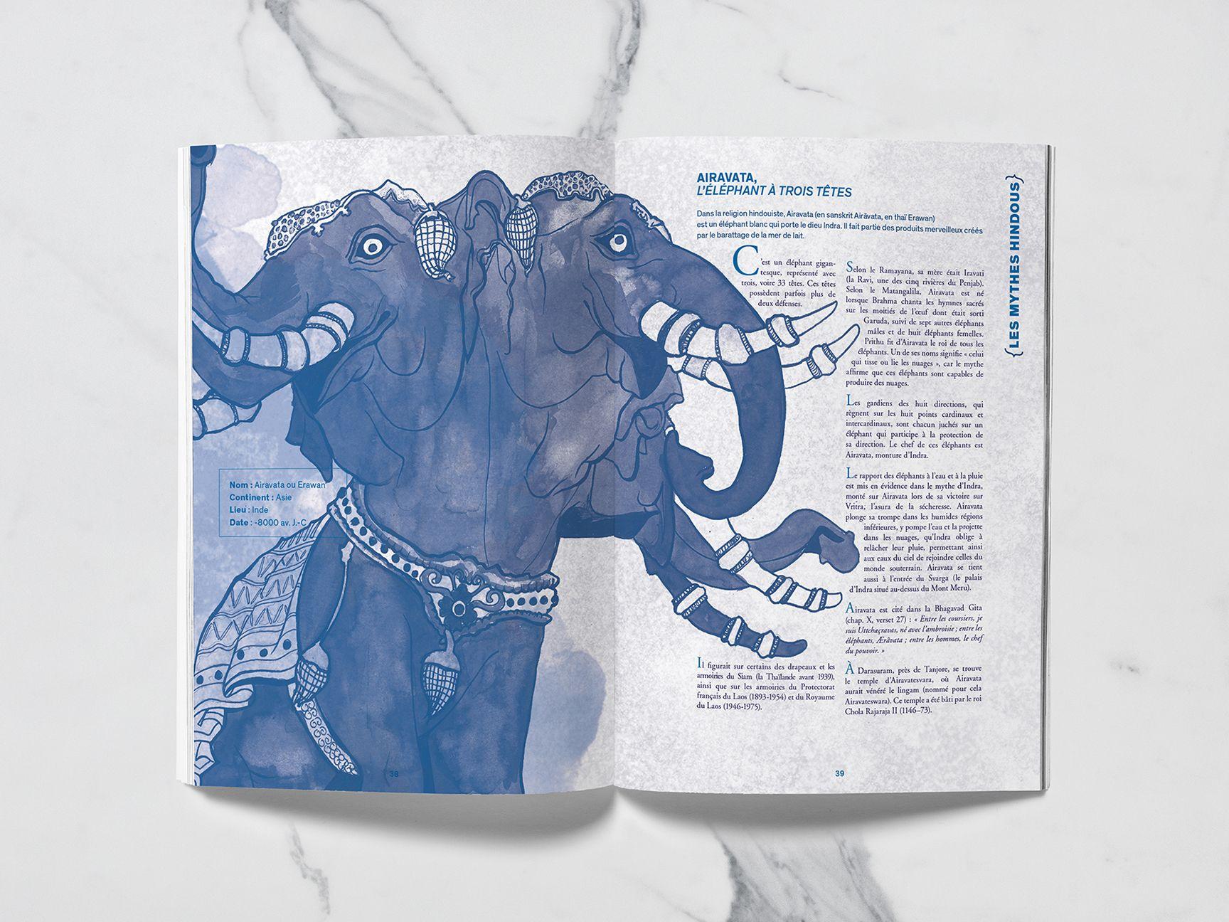Airavata pour le recueil Mytho(zoo)logie
