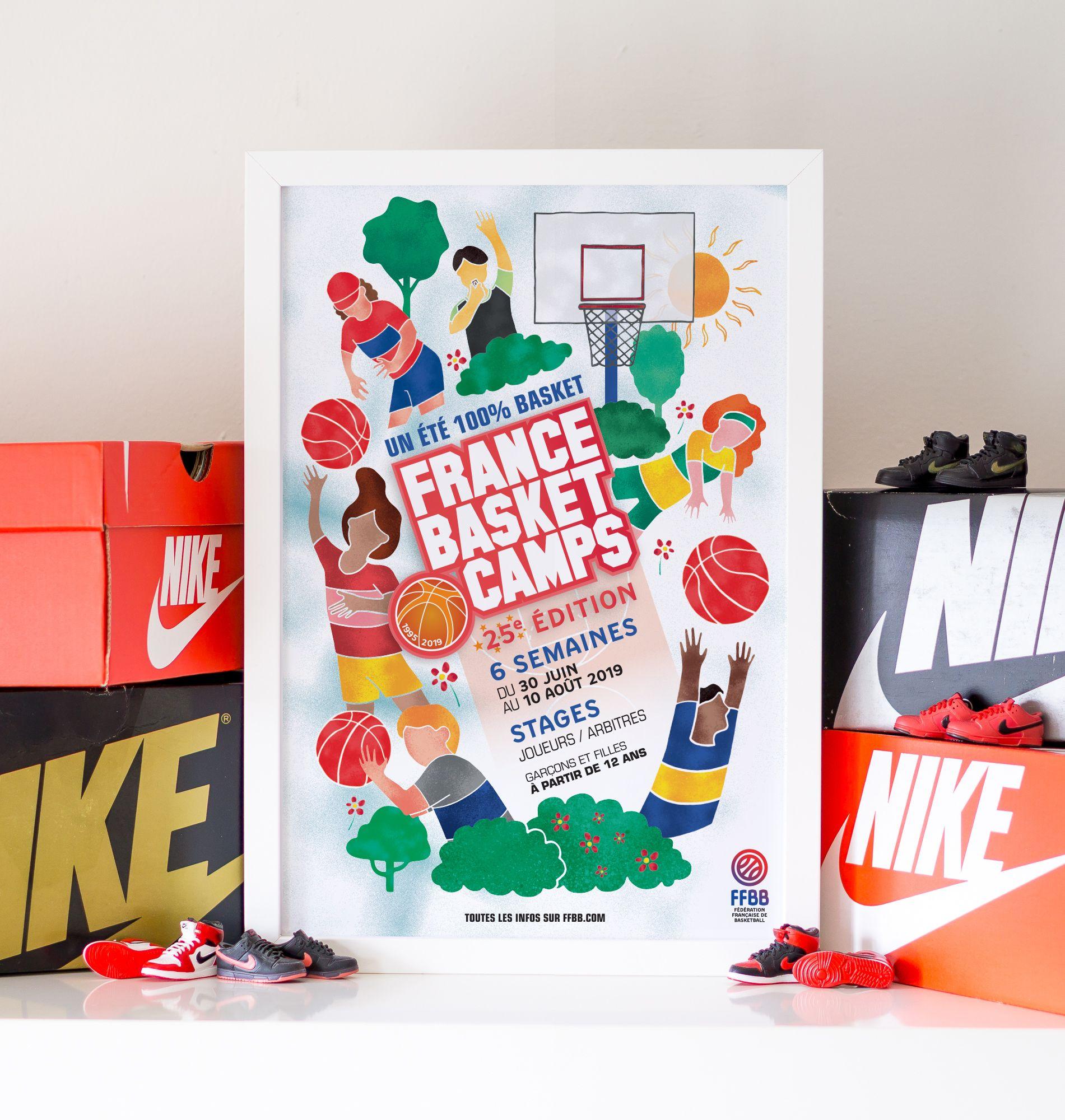 Affiche France Basket Camps