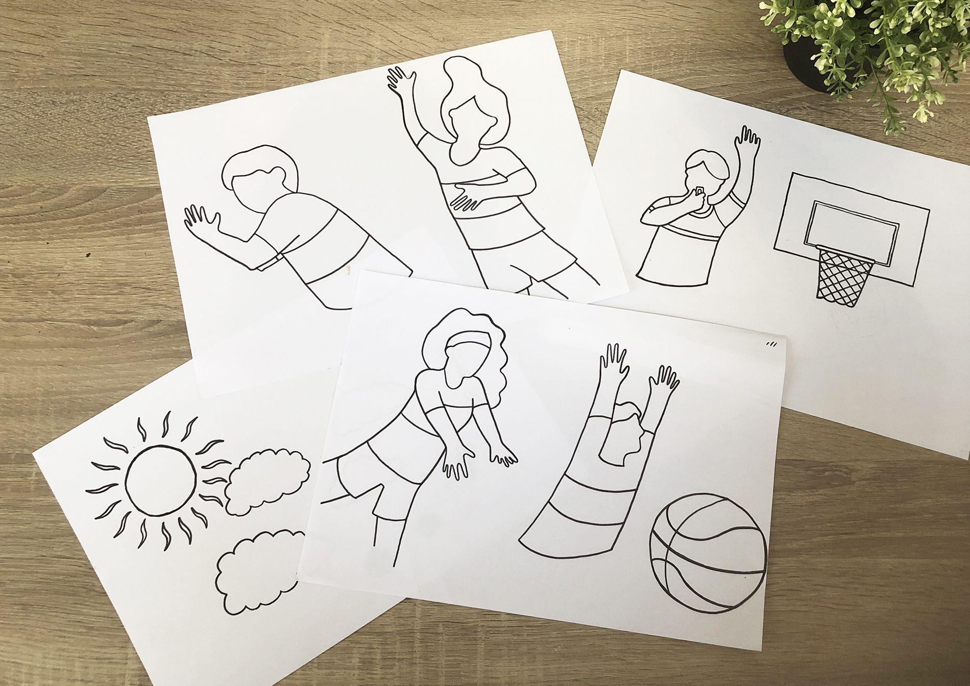 Illustrations (base) France Basket Camps