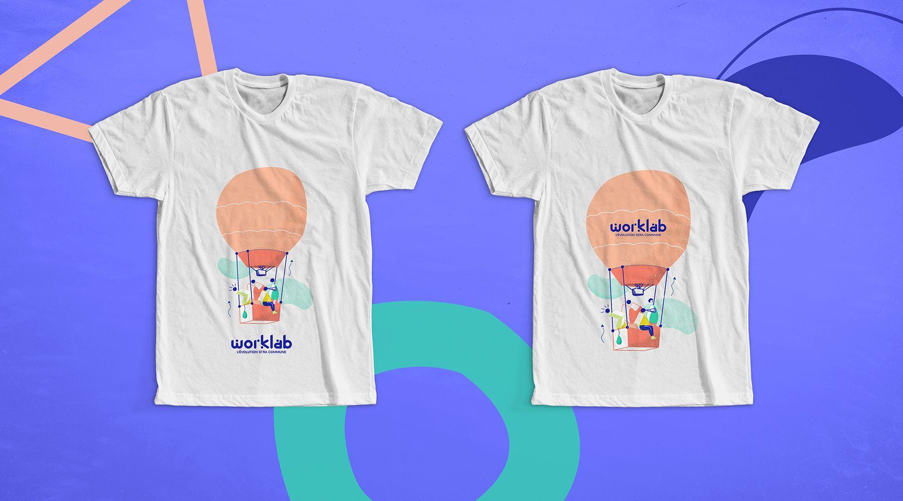 Un prototype de support éditorial pour Worklab : tshirt